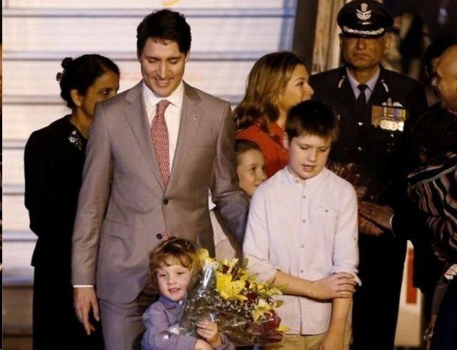 ทรูโดและครอบครัว เยือนอินเดีย