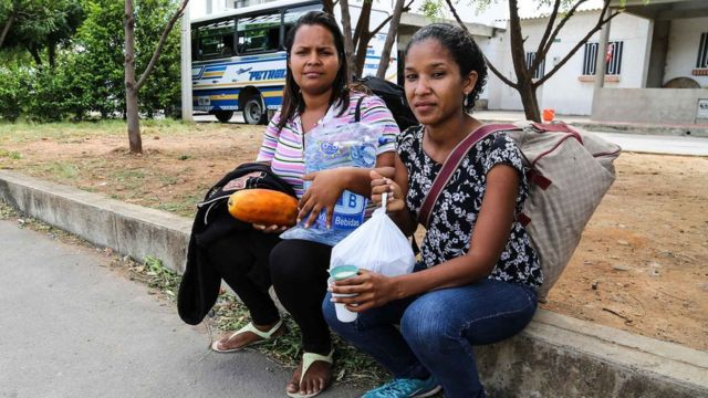 Элиана и ее спутница, жительницы Венесуэлы