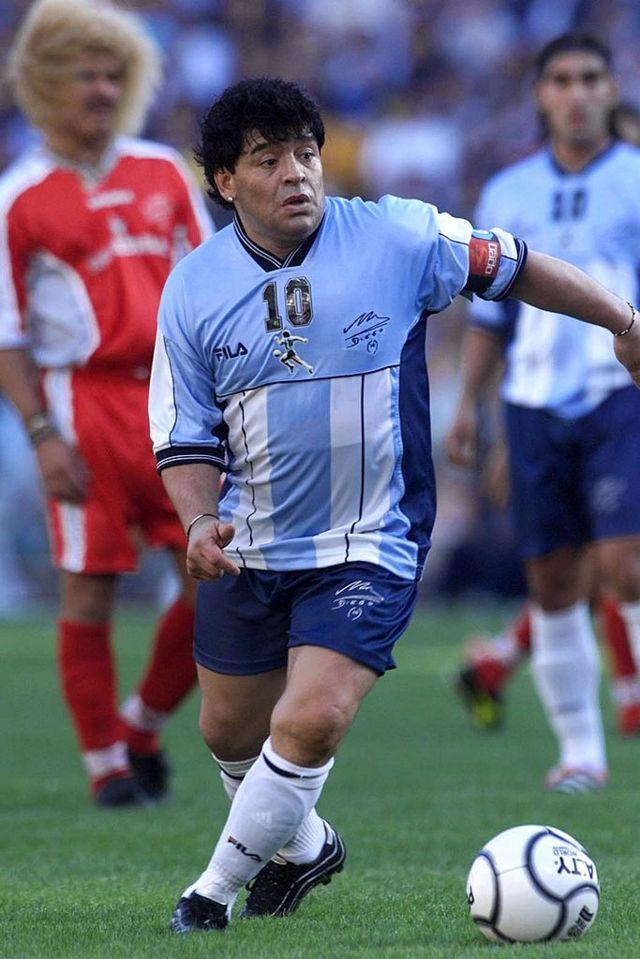 Maradona en 2001