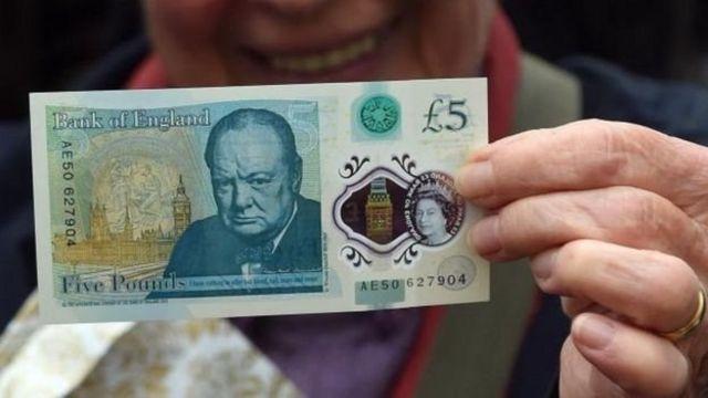 Портрет Черчилля на купюре