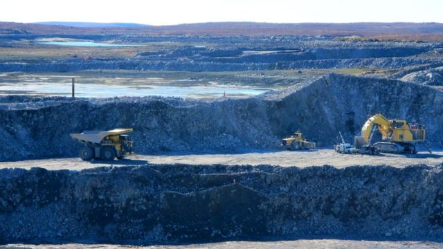 Mina de diamante en Canadá