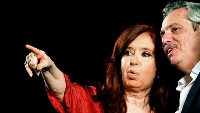 Cristina Fernández de Kirchner y Alberto Fernández.