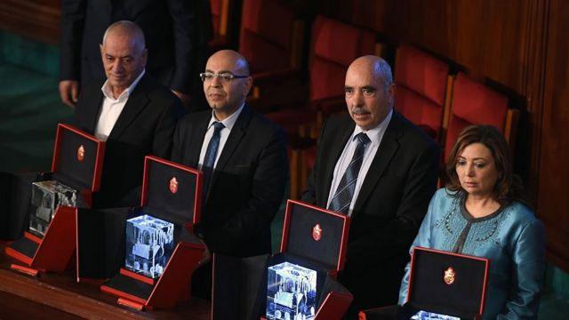 Los miembros del Cuarteto.