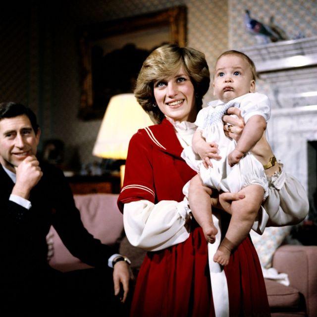 Princ Vilijam s roditeljima - princezom Dajanom i princom Čarlsom