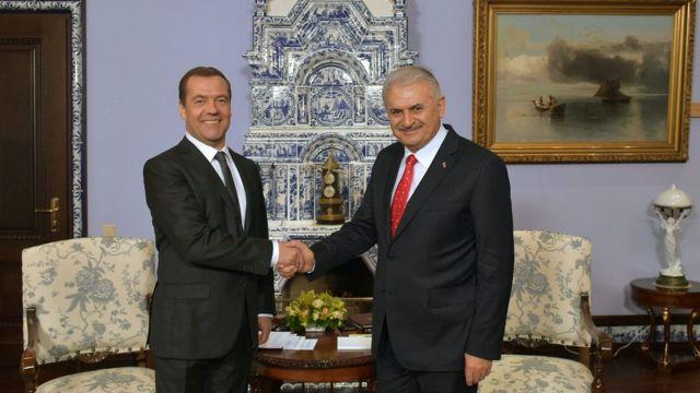 Rusya Başbakanı Dmitri Medvedev ve Başbakan Binali Yıldırım