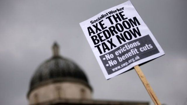 Placard reading Axe The Bedroom Tax