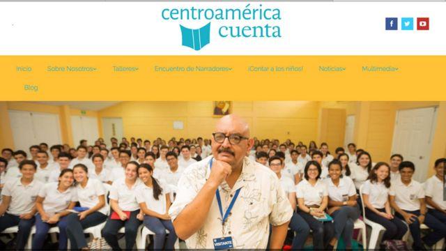 La página de Centroamérica Cuenta