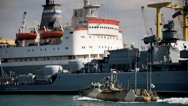 В Тартусе находится военная-морская база России