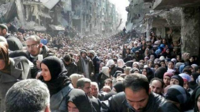शरणार्थियों की भीड़