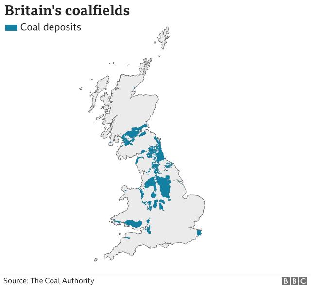 Coalfields map