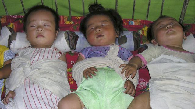 북한 산원 아이들