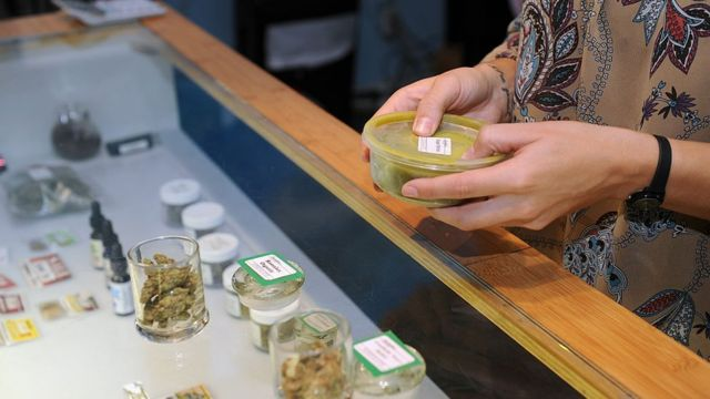 Cannabis store in California.