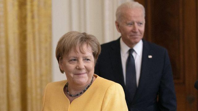 Ангела Меркель и Джо Байден