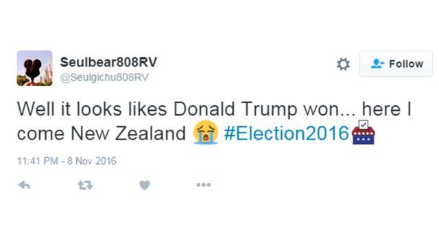"""Görünür Donald Trump qalib gəldi... Yeni Zelandiya gözlə məni"""", istifadəçi yazır"""