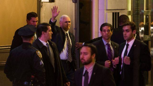 Mike Pence en Nueva York