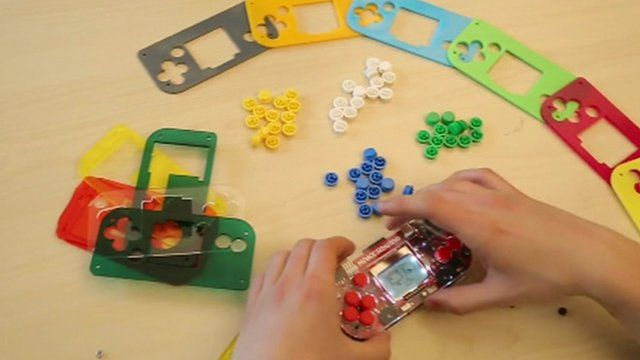 Handheld DIY games console