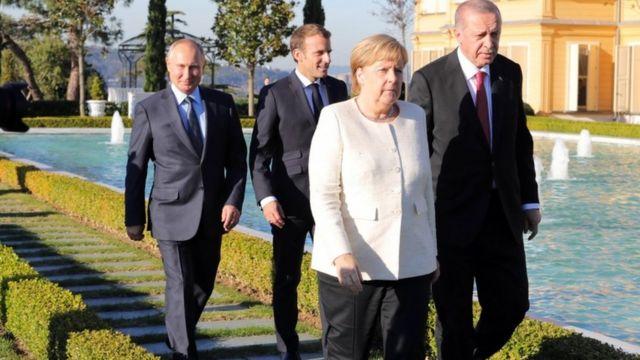 زعماء روسيا وألمانيا وفرنسا وتركيا