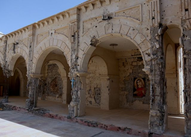 Courtyard of the Church of the Immaculate Conception, Qaraqosh