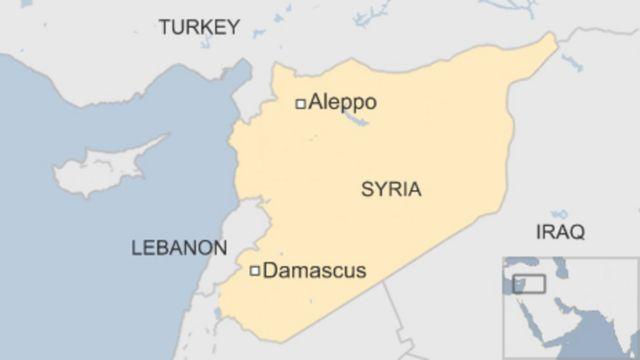 Ikarata yerekana intara ya Aleppo muri Syria