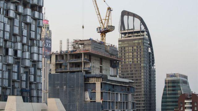 ภาพการก่อสร้างอาคารที่อยู่อาศัย