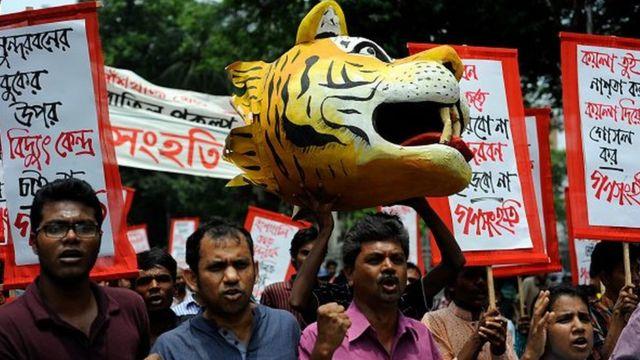 রামপাল বিদ্যুৎ কেন্দ্রের বিরুদ্ধে প্রতিবাদ অব্যাহত রয়েছে