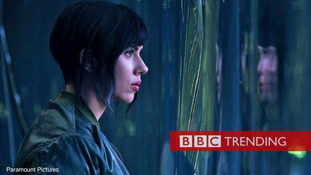 Scarlett Johansson in the remake of Ghost in the Shell
