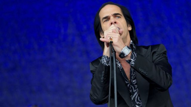 Nick Cave di Glastonbury 2013.