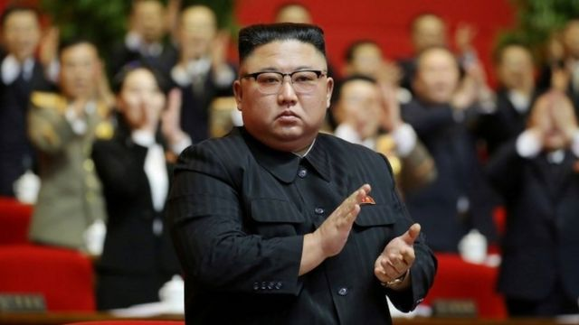 North Korea's leader Kim Jong-un at the Workers' Party Congress in Pyongyang. Photo: 11 January 2021