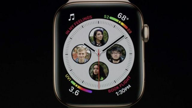 新版Apple Watch的屏幕比旧版要大一些。