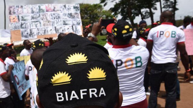 Un rassemblement de partisans pro-Biafra tenu à Abidjan le 30 mai dernier (illustration)