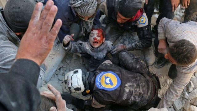 غارت سورية على مناطق شرق حلب