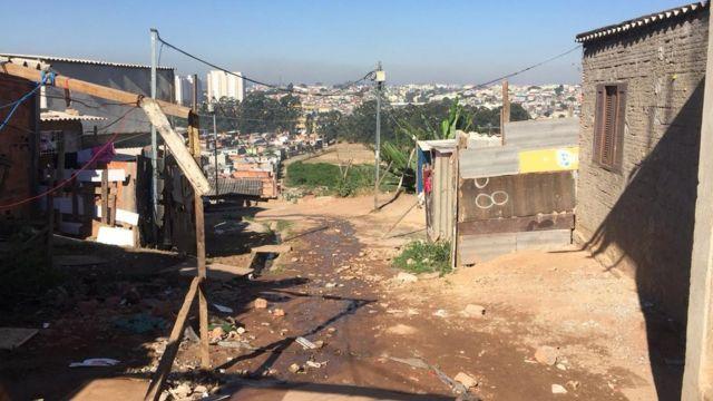Rua onde o entregador de pizzas Geovane dos Santos foi morto pela PM, em Guaianases, zona leste