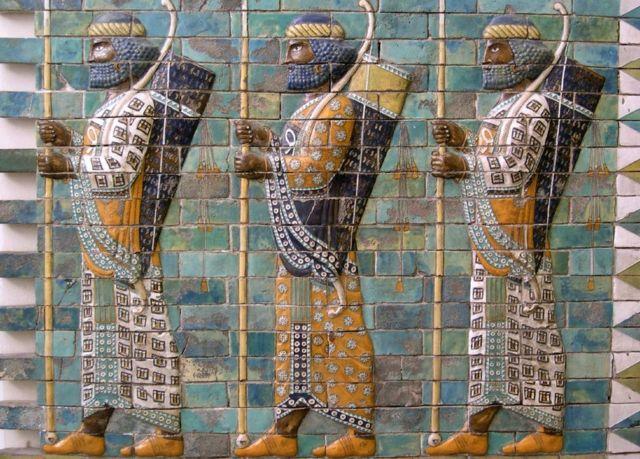 Persas, mosaico