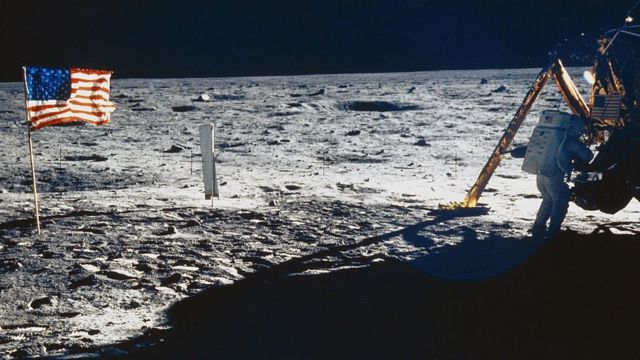 달에 있는 성조기