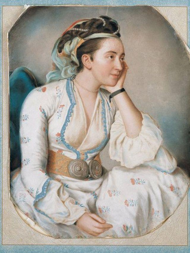 18 ویں صدی کی ایک ترک عورت کا پورٹریٹ