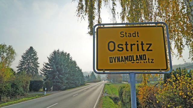 Въезд в Остриц