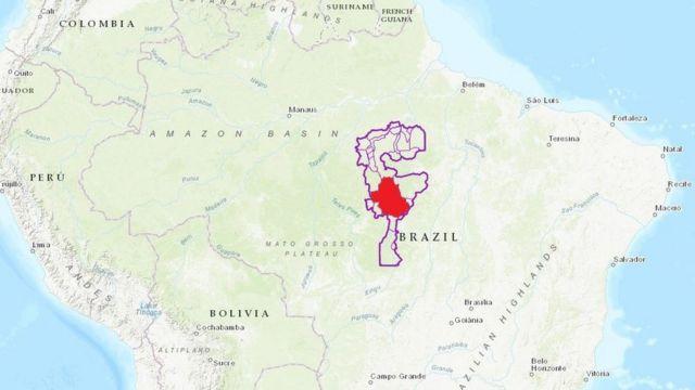Mapa de Xingú