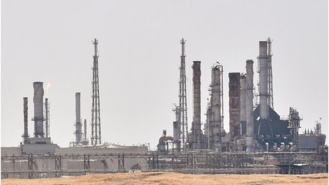 Aramco oil facility near al-Khurj area, just outside the Saudi capital Riyadh, on 15th September 2019