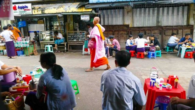 In the streets of Rangoon