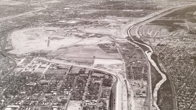 Foto panorámica de El Paso en el área de El Chamizal