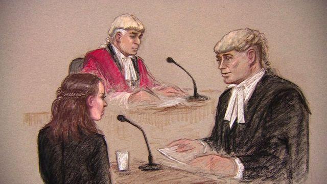 英国伦敦一场刑事案件庭审盘问证人过程的素描(23/5/2017)