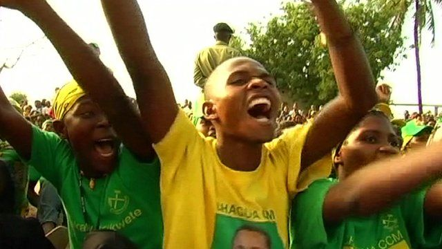 CCM supporters at a 2010 rally in Tanzania
