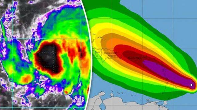 Muonekano wa kimbunga Maria kwenye picha za satelite