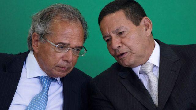 Paulo Guedes e general Mourão