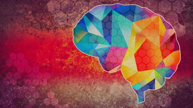 Ilustración a colores de un cerebro
