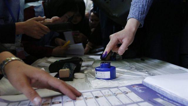 تصویری از انتخابات پارلمانی افغانستان