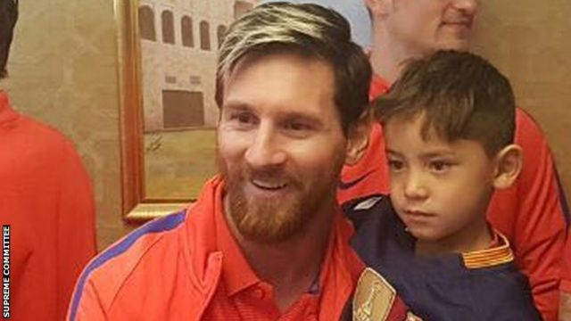 Messi və Murtaza Ahmadi Dohada