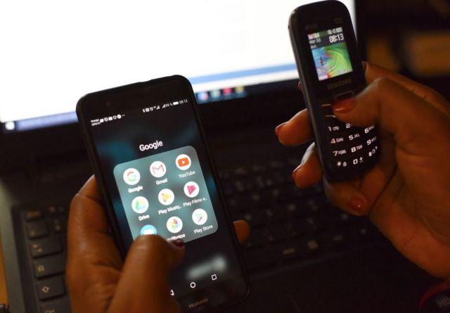 华为的手机销量在非洲排第四。