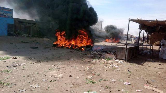 احتجاجات السودان تحولت إلى عنف في عطبرة