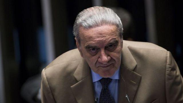 O economista Luiz Gonzaga Belluzzo, ouvido pelos senadores em defesa de Dilma